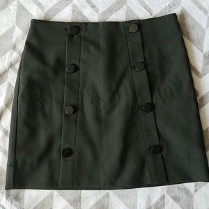 LOFT Army Green Button Skirt Sz 8